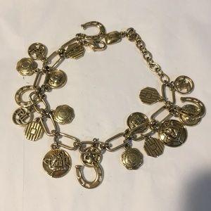 Vintage Ralph Lauren gold charm bracelet